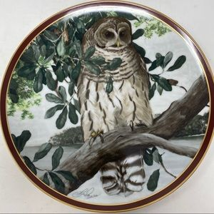 Hamilton Collection Birds of Prey Barred Owl Plate